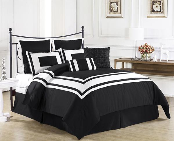 Black Modern Bedding Set