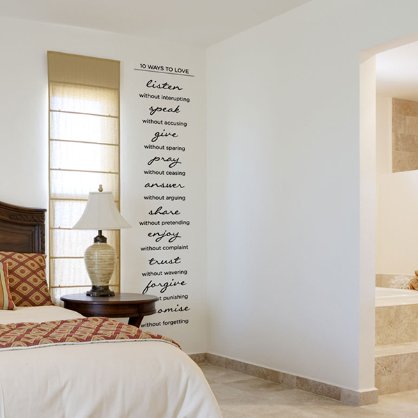 10 Ways to Love Wall Quote Decal