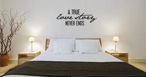 Inspiring Bedroom Wall Quote Decals