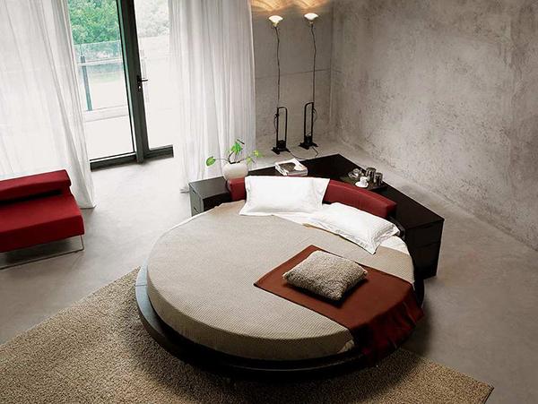 Corner Round Bed