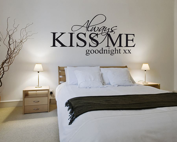 Always Kiss Me Goodnight Quote Sticker