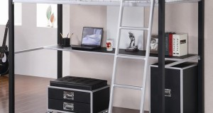 15 Functional Metal Loft Bed with Desk