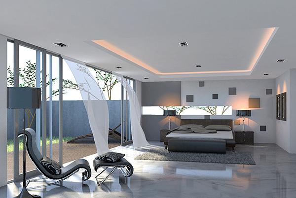 Minimalist Bedroom Angle 2