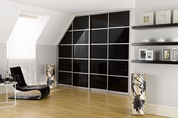 Black Glass Wardrobe