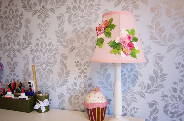 Anthropologie-Inspired Flower Lamp Shade