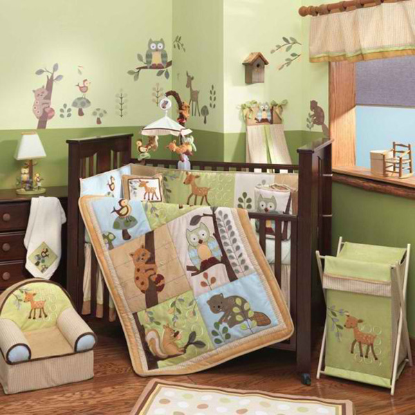 Enchanted Forest 5 Piece Baby Crib Bedding Set