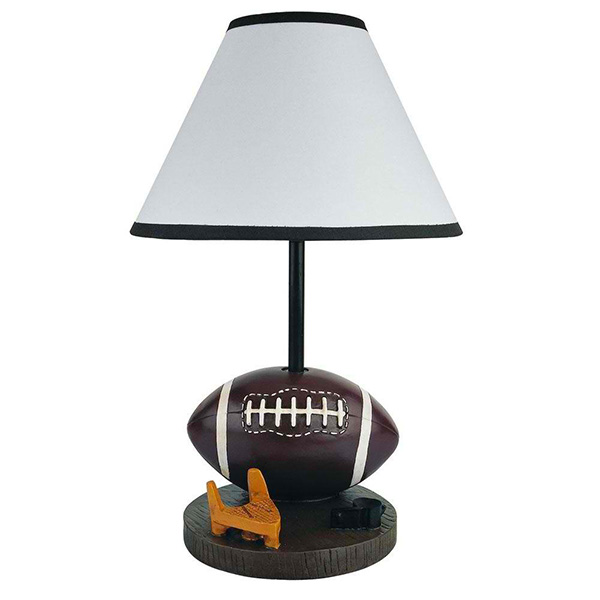 Brown Accent Table Lamp: 15 in. Football Brown Lamp 31604FT