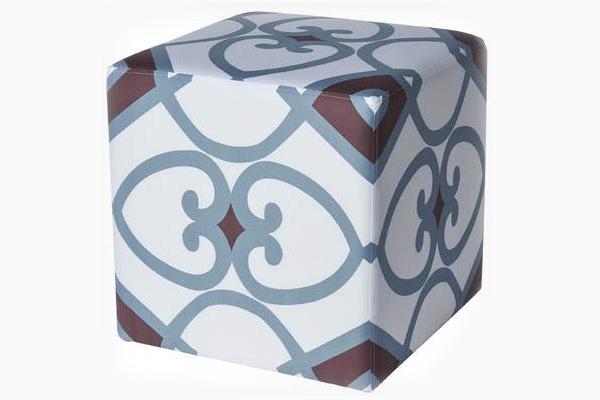 Charlie Geometric Cube Ottoman