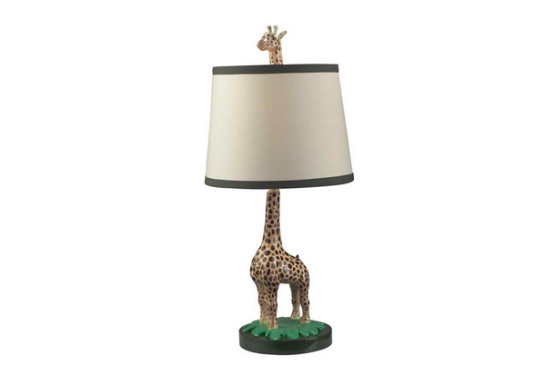 dimond lighting jerry the giraffe 1 light painted table lamp