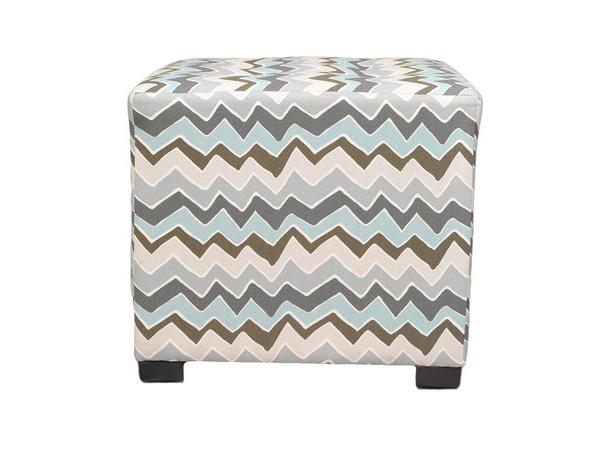 Sole Designs Denton Cotton Square Cube Ottoman