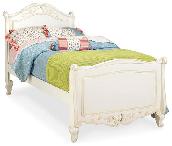 Elite Vintage Boutique Sleigh Bed in Vintage White
