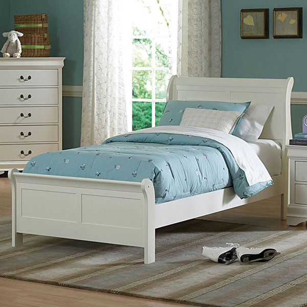 Oxford Creek Full Bed in Soft White
