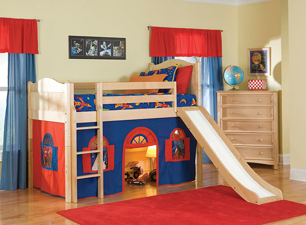 Bolton Kids Cottage Loft Bed w/ Slide
