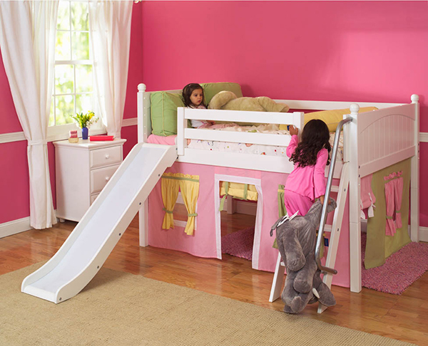 Playhouse Low Loft Bed w/ Slide
