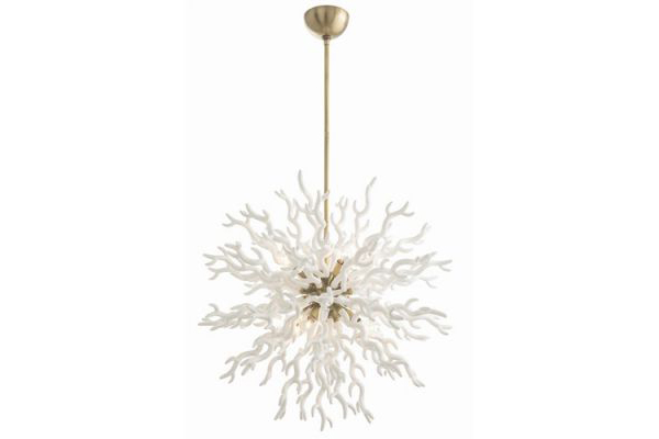 Diallo Chandelier- White