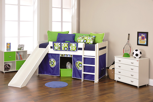 Stompa Play 3 - Cabin Bed with Play Tent and Slide