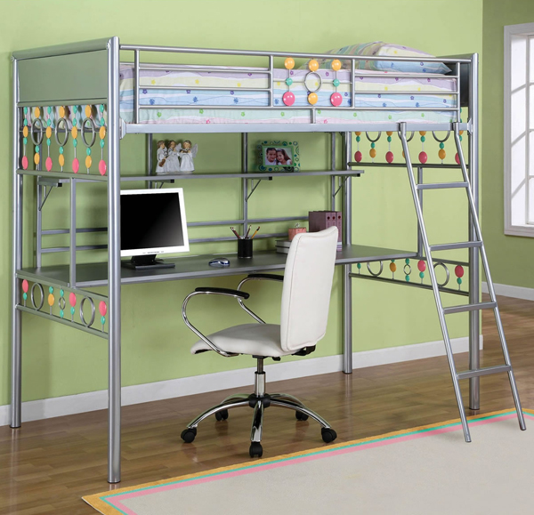 15 Functional Metal Loft Bed With Desk Bedroomm