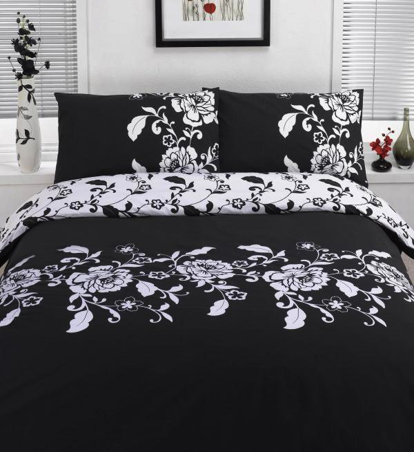 Black & White Single Duvet Cover Bedding Set