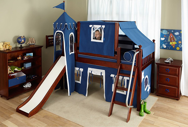 15 Fun Bunk Bed With Slides For Kids Bedroomm