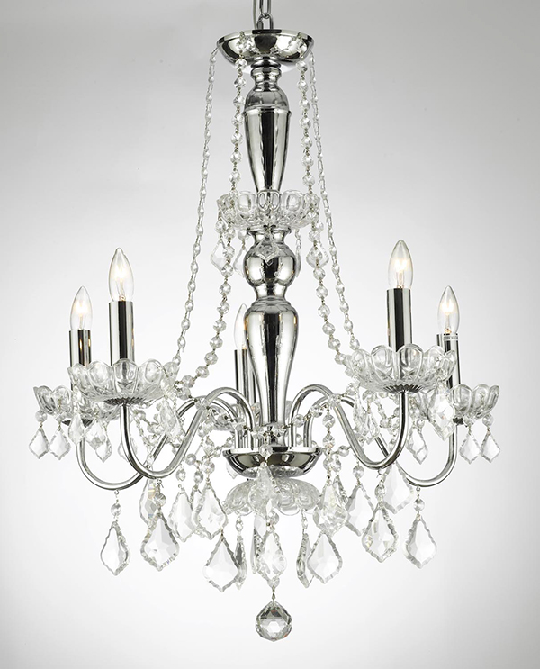 Royal Collection 5 Lights Crystal Chandelier