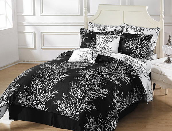 Chezmoi Collection Black White Tree Branches Set