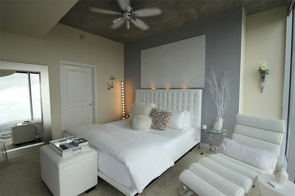 Modern White Bedroom