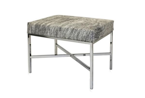 Modern Cowhide Bench