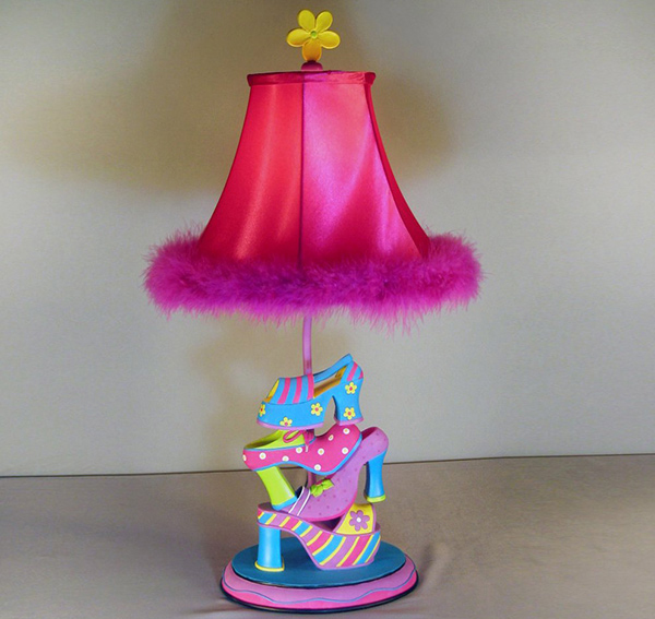 Girl Shoe Kids Table Lamp