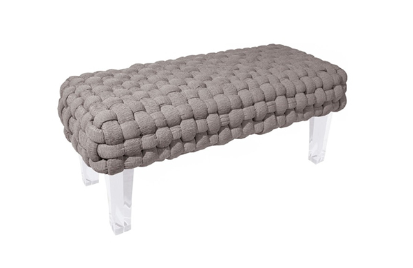 Plaited Bench Gray