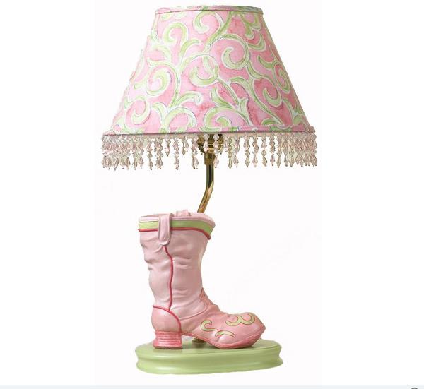 Pink Boot Lamp