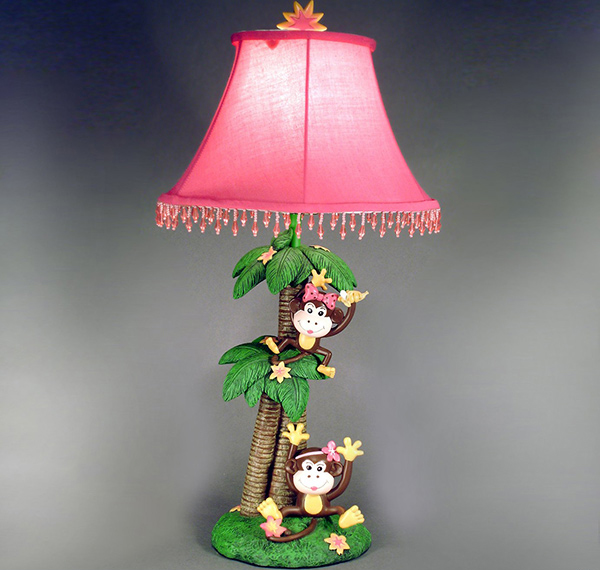1761 Monkeys Kids Table Lamp