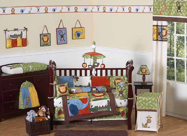Jungle Time 9-Piece Crib Bedding Set