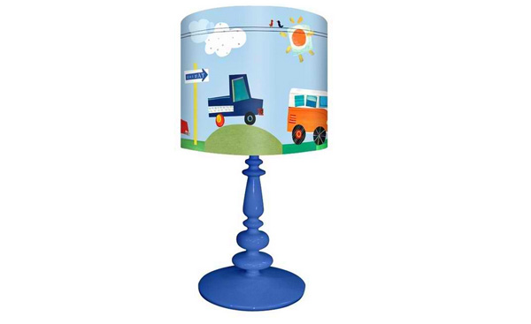 Kids On The Road Again Children's Table Lamp