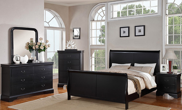 Traditional Style Sleigh Bed P 9230