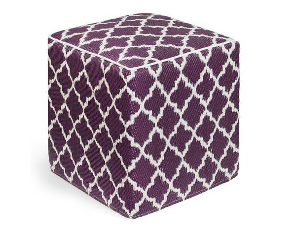 Tangier - Plum & White Cube-Moroccan