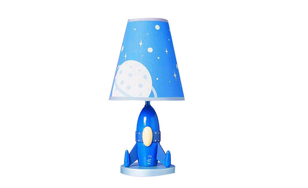 Cal Lighting Kids Rocket Ship Table Lamp