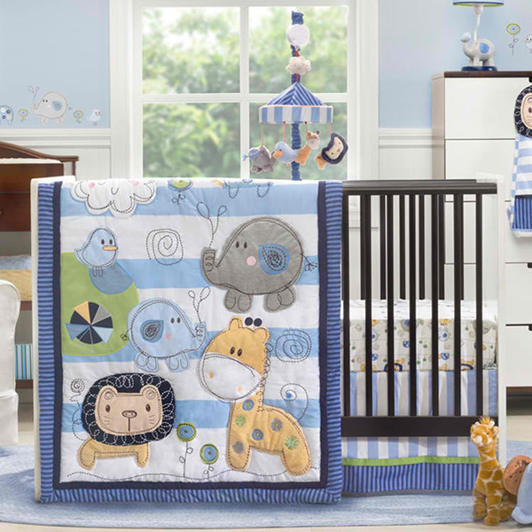 Kidsline Jungle Doodle 4 Piece Crib Set