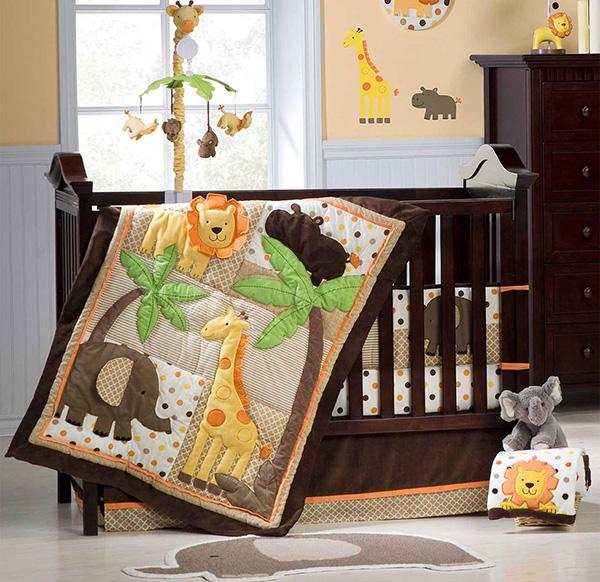 Carter's Sunny Safari 4 Piece Crib Bedding Set