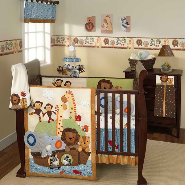 S.S. Noah 5 Piece Baby Crib Bedding Set